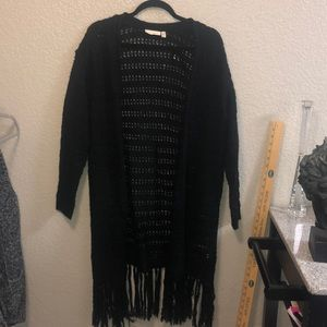Black see through cardigan